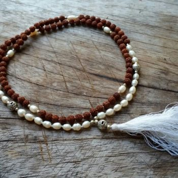 Radruksha and pearl mala